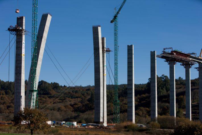 hidráulicos de accionamiento del viaducto O Eixo